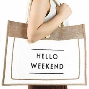 •SOLD• Summer Tote Bag • HELLO WEEKEND